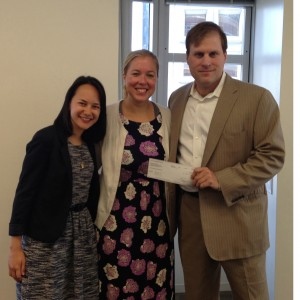John with Read Ahead Executive Director Kristen Baldwin and Program Director Courtney Wong